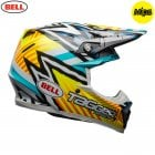 2020 Adults Moto-9 MIPS Helmet - Tagger Yellow/Blue/White