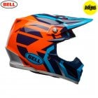 2018 Adults Moto-9 MIPS Helmet - District Blue/Orange