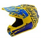 2020 Adults Polyacrylite SE4 Factory Helmet - Yellow/ Blue