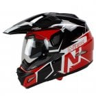 Adults MX670 Uno DVS Dual Sport Helmet - Black/ Red