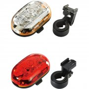 Lighting Twinpack - Luxo 3 front with Vista 5 LED rear (Batteries included)