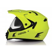 Active Dual Sport On/ Off Road Helmet With Visor - Yellow (Hi-Vis)