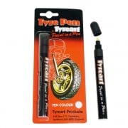 Tyre Art - White Paint Pen For Motor Bike Tyres
