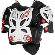 Adults A10 Full Chest Protector - WHITE/BLACK/RED