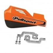 Rocks Handguards With Aluminium Mounting Kit - Orange