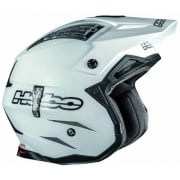 Zone 4 Fibre Mono Trials Helmet - White