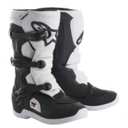 Tech 3S Kids MX Boots - Black/ White