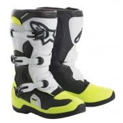Tech 3S Kids MX Boots - Black/ White/ Yellow Flo
