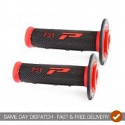 791 MX Motocross Grips - Pair - New Black/ Red