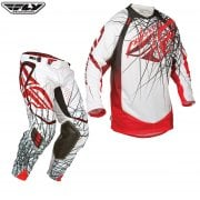"Evolution Clean Spike Pants & Jersey Kit - White/ Red - 30""/ Small"
