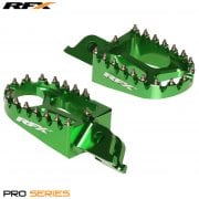 Pro Series Foot Pegs - Kawasaki KXF250 2006-20, KXF450 2007-20 - Green