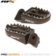 Pro Series Shark Teeth Foot Pegs - Yamaha YZ/YZF 125-450 99-17, Gas Gas EC 125-300 98-17 - Hard Ano