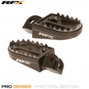 Pro Series Shark Teeth Foot Pegs - KTM SX65 2002-18, SX/EXC/SXF/EXCF 125-525 2000-15 - Hard Ano