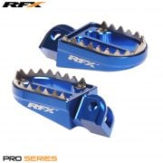 Pro Series Shark Teeth Foot Pegs - Husqvarna TC85 2014-17 - Blue