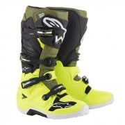 Adults Tech 7 MX Boots - Flo Yellow/ Military/ Black