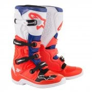 Adults Tech 5 MX Boots - Red Fluro/ Blue/ White