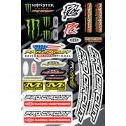 2015 Team Decal Sticker Sheet