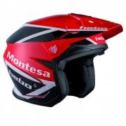 Adults 2019 Zone 5 Montesa Classic III Red Polycarb Trails Helmet W/ Visor
