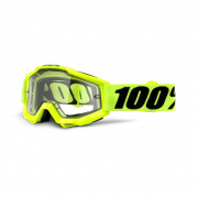 Adults Accuri Enduro MTB Goggles - Fluo Yellow / Clear Lens