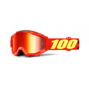Youth Accuri MX Goggles - Saarinen/ Red Mirror Lens