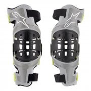 Adults Bionic 7 Knee Brace Set - Silver/ Yellow Fluo