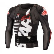 Adults Sequence Long Sleeve Armour Jacket - Black/ White/ Red