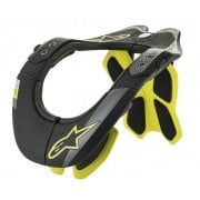 Adults Tech 2 Bionic Neck Support - Black/ Yellow Fluo
