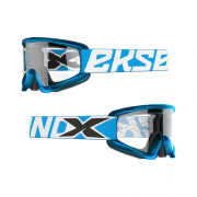 Adults GOX Flat Out Goggles With Iridium Lens - Liquid Cyan/Silver