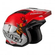 Adults 2019 Zone 4 Toni Bou Replica Trials Helmet White/ Red