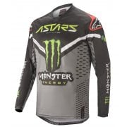 2020 Adults Racer Jersey - Monster Raptor Black/Grey/Bright Green