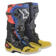Adults Tech 10 Boots - Black/ Yellow/ Blue/ Red