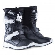 Kids Pee Wee MX Boots - Black/ White