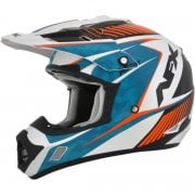 Adults FX-17 Factor MX Helmet - Blue/ Orange
