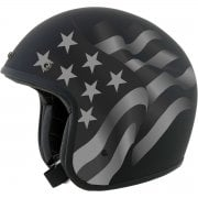 Adults FX-76 Open Face Retro Helmet - Flag Stealth