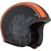 Adults FX-76 Open Face Retro Helmet - Engine