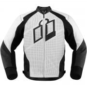Adults Hypersport Leather Jacket - White/ Black
