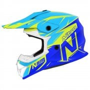 Adults MX620 Podium Helmet - Fluro Yellow/ Blue