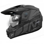 Adults MX670 Uno DVS Dual Sport Helmet - Matte Black/ Gunsmoke