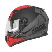 Adults N2400 Rogue Helmet - Black/ Gun/ Safety Red