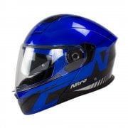 Adults F350 Analog DVS Flip Front Helmet - Black/ Blue/ Silver