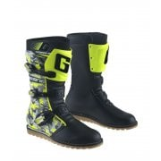 Adults Classic Waterproof Trials Boots - Camo Black/ Yellow