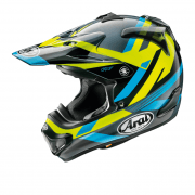 2020 Adults MX-V Machine Helmet - Yellow/ Blue