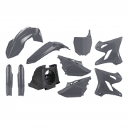 Full Plastics Kit - Yamaha YZ125/250 2002-14 Restyle To 2015-19 - Grey