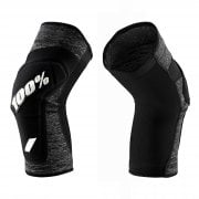 Adults Ridecamp Knee Guards - Grey Heather/ Black