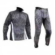 Adults Aztec Trials Jersey & Pants - Black