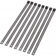 "8"" Stainless Steel Ladder Style Cable Ties - 8 Pack"