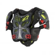 Adults A10 Full Chest Protector - Anthracite/ Black/ Red