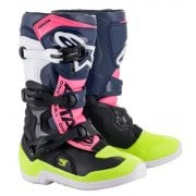 Youth Tech 3S Boots - Black/ Blue/ Fluro Pink