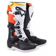 Adults Tech 3 Boots - Black/ White/ Fluro Red