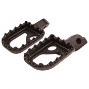 Universal 60mm Wide Aluminium Trials Footpegs - Black